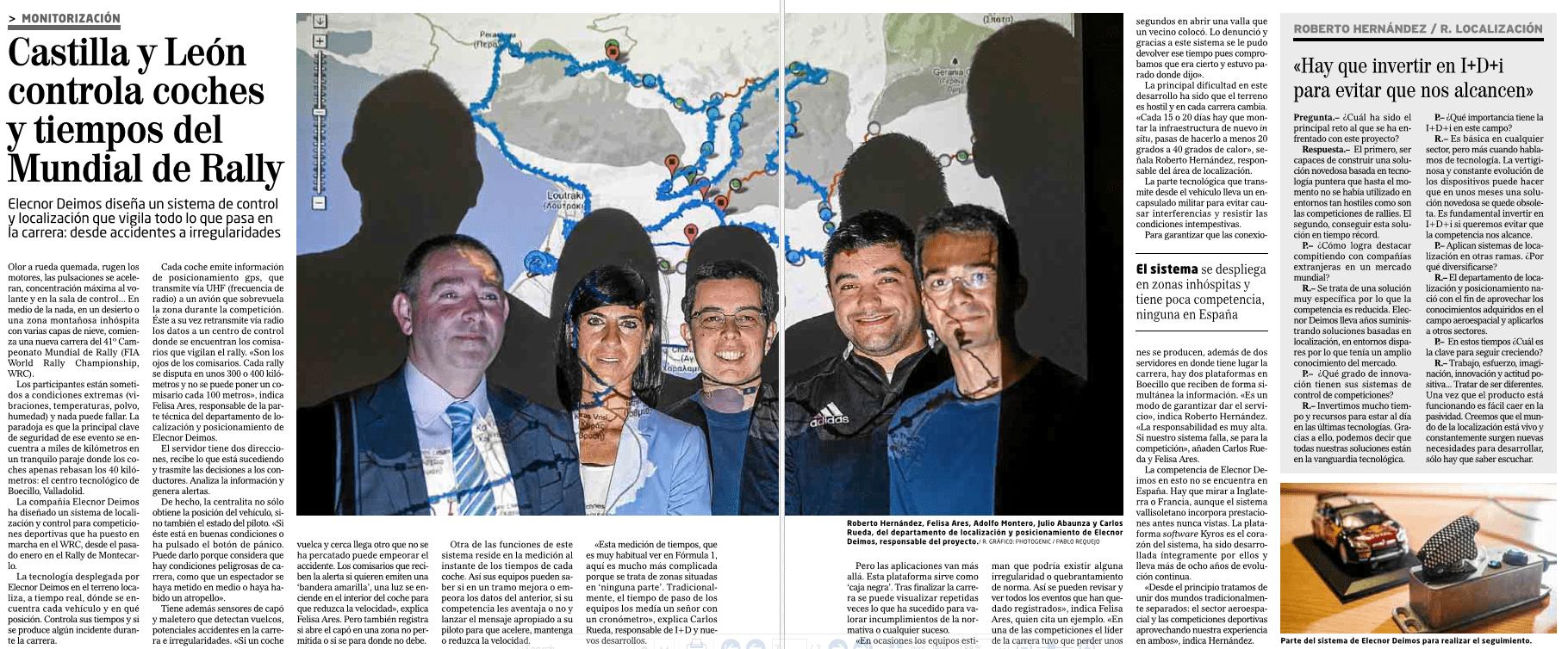 Deimos LBS en el mundial de Rally (WRC)
