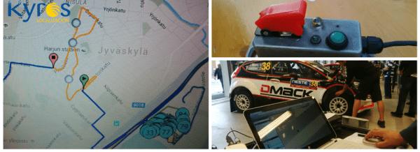 Sistema seguimiento GPS para Rallies de Kyros Localización